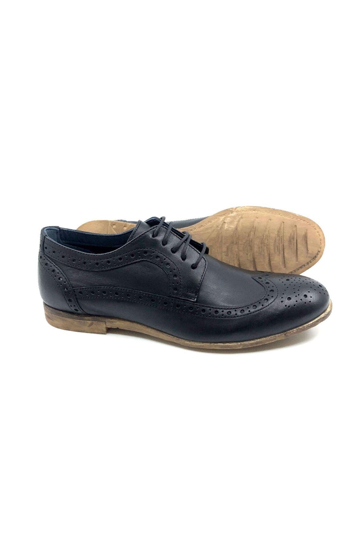 TETRİ Siyah Hakiki Deri Klasik Ayakkabı 2