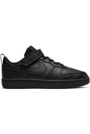 Nike Unisex Çocuk Siyah Bq5451-001 Court Borough Spor Ayakkabı