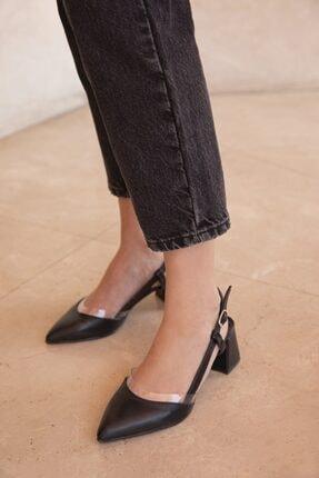 STRASWANS Kadın Siyah Roy Deri Topuklu Ayakkabı