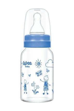 Wee Baby Isıya Dayanıklı Cam Biberon 120 ml - MAVİ