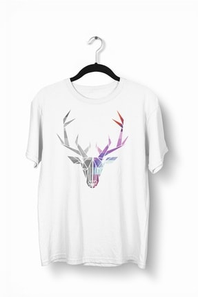 Tshigo Erkek Watercolor Deer Baskılı Tshirt