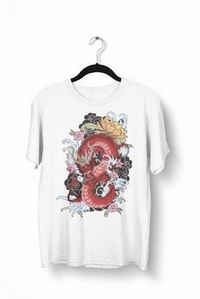 Tshigo Japonic Flowers Baskılı Erkek Tişört
