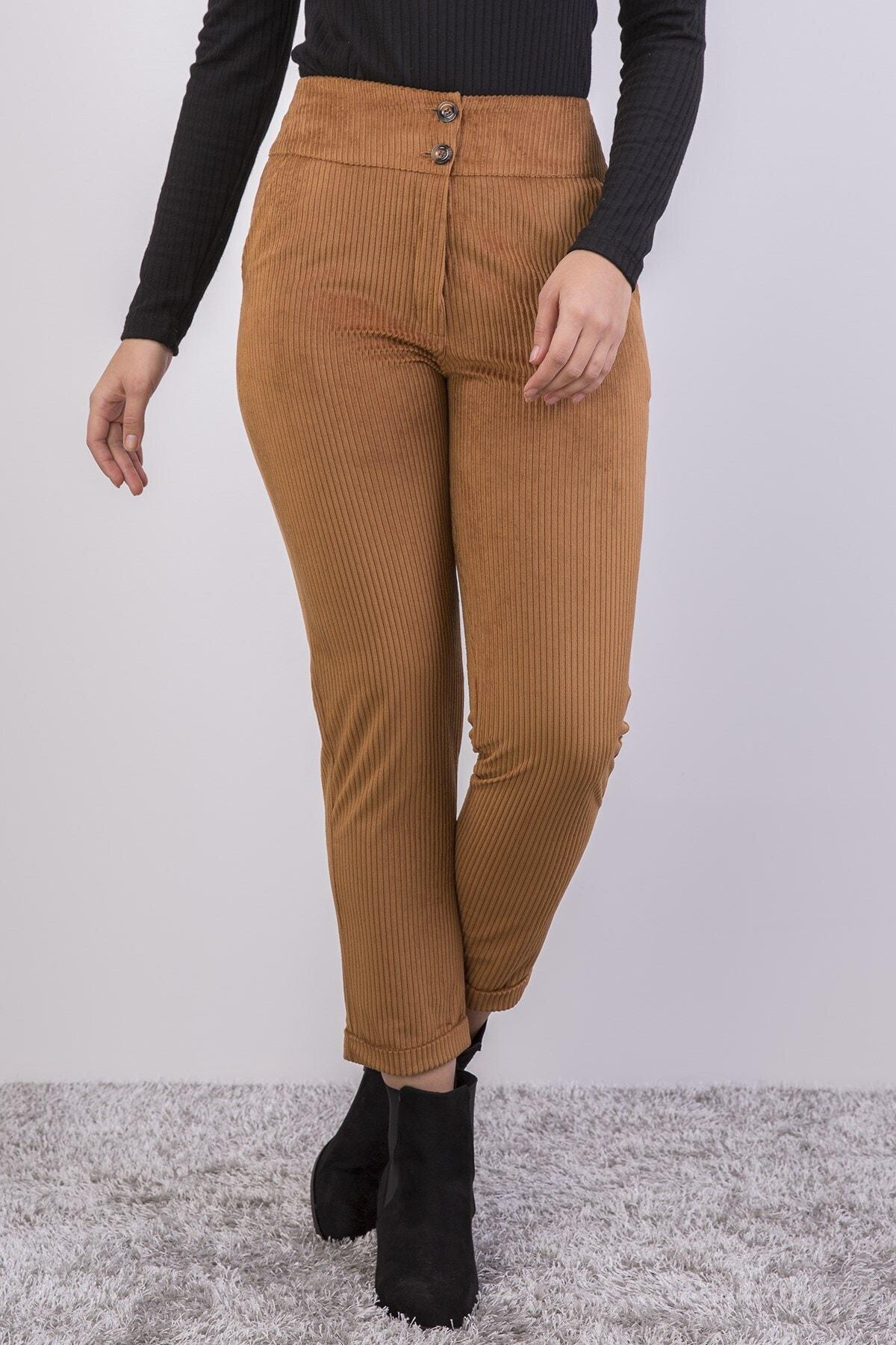 apsen Yüksek Bel Kadife Pantolon 351/95 1