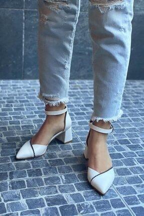 STRASWANS Jacey Kadın Beyaz Deri Topuklu Ayakkabı