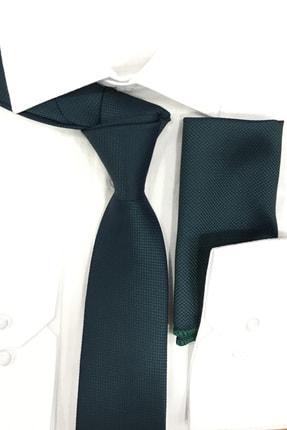 Quesste Accessory Quesste Armür Dokumalı Noktalı Mendilli 6 cm İnce Kravat