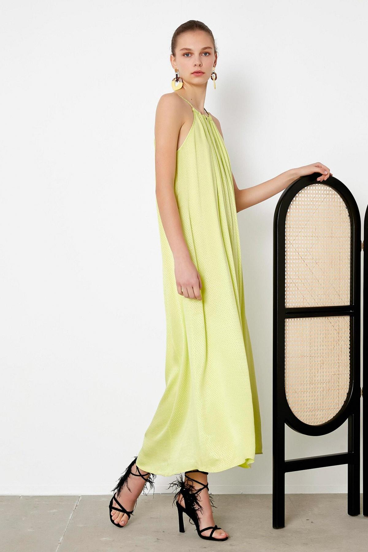 İpekyol Kadın Yeşil Askılı Elbise IS1200002407011 1