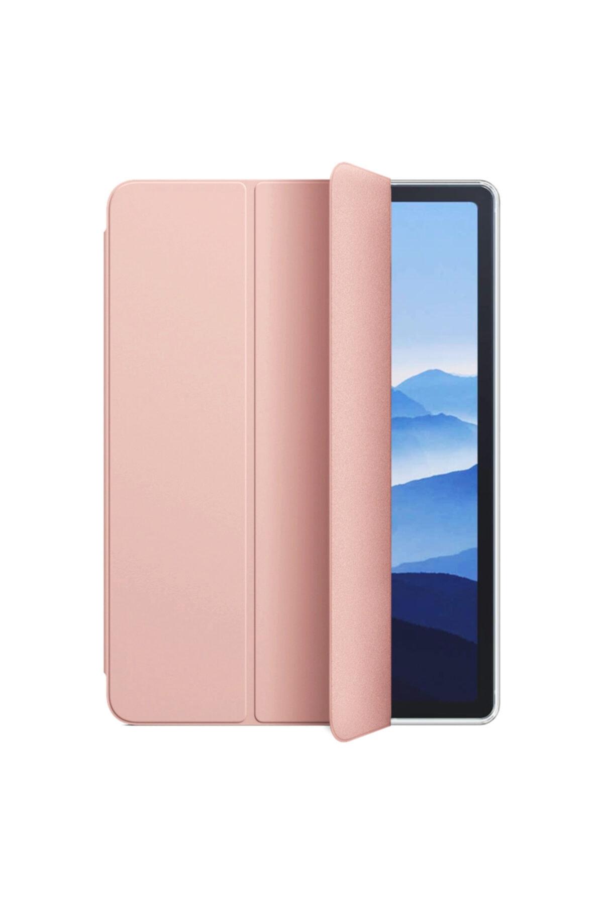 "Microsonic Samsung Galaxy Tab S6 Lite 10.4"" P610 Kılıf Slim Translucent Back Smart Cover Rose Gold 2"