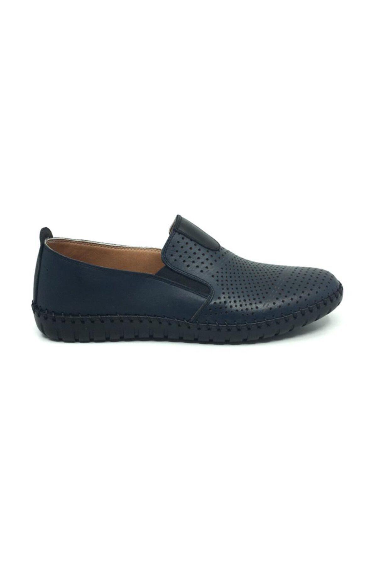 Taşpınar Erkek Lacivert Bağcıksız Yazlık Rahat Casual Ayakkabı 2