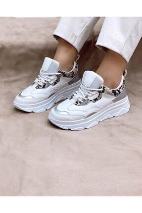 STRASWANS Kadın Pembe  Yılan Detaylı Sneakers