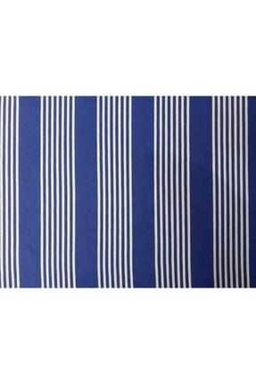 Evim Ceylan Home Balkon Perdesi Brandası 725/250 Mavi Çizgili