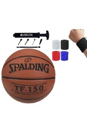 SPALDING Tf-150 Basketbol Topu No: 6 Numara + Pompa + Havlu Bileklik