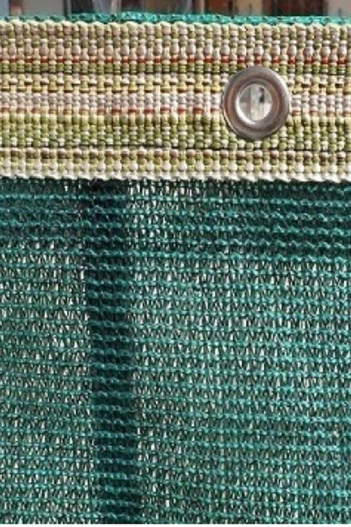 ÇUVAL SEPETİ Gölgelik File 1,5x5 Mt %95 Gölgelik Kumaş Gölgeleme Çit Örtüsü Yeşil Kuşgözlü + Kolonlu 1