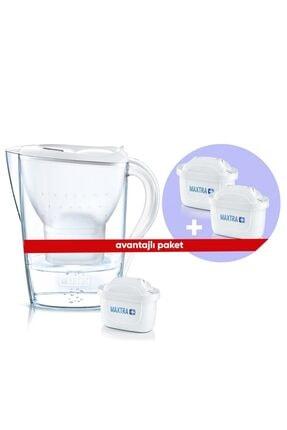BRITA Beyaz Marella Xl 3 Yedek Filtreli Su Arıtmalı Sürahi Paketi
