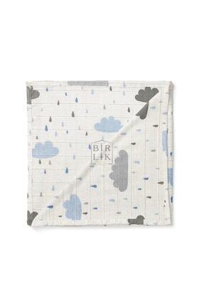 BİRLİK1952 Bebek Müslin Kumaş Bulut Bebek Mavisi