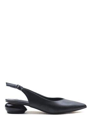 Buffalo Black Stylısh Fashıon Topuklu Ayakkabı