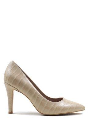 Buffalo Kadın Croco Design Topuklu Ayakkabı