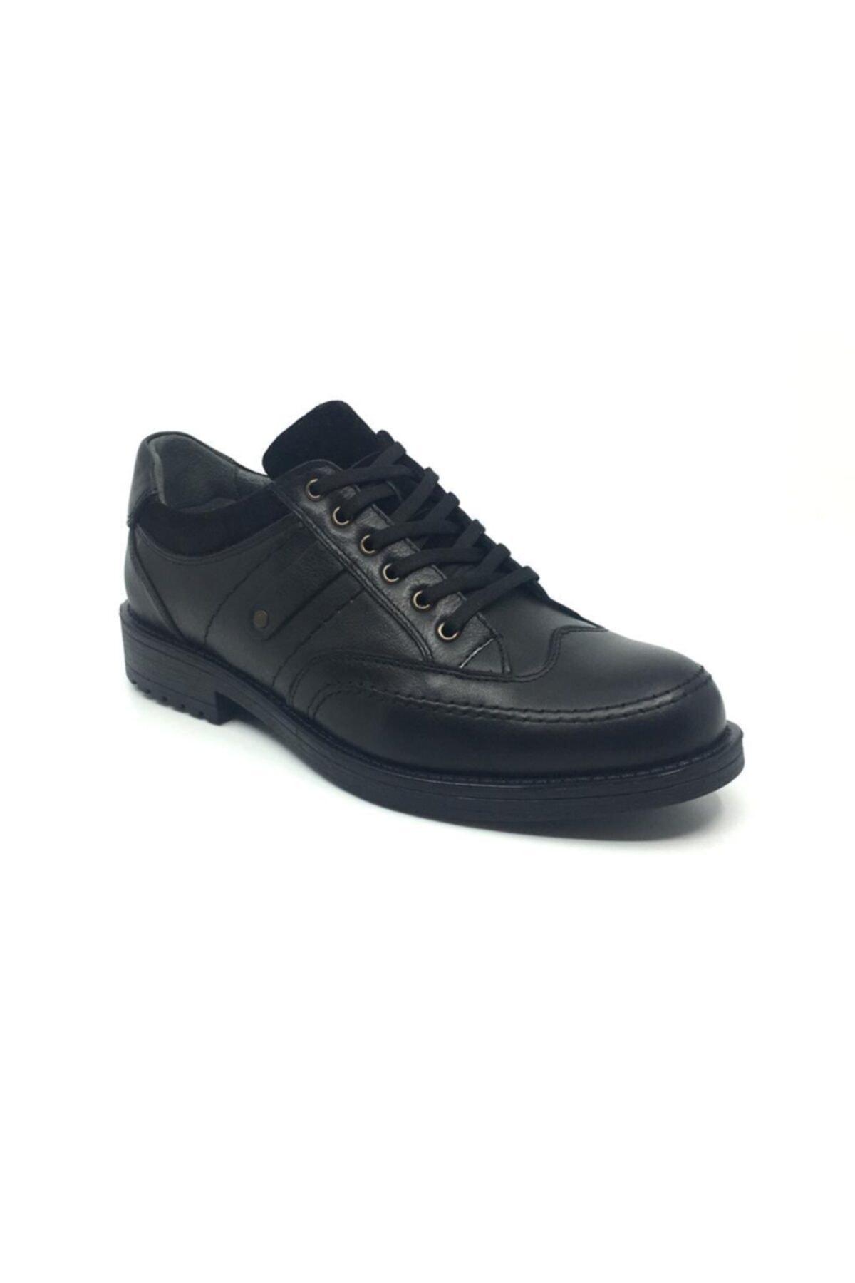 Taşpınar Erkek Siyah Hakiki Deri Klasik Ayakkabı 1