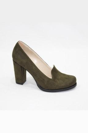 Arıcı Kadın Haki Süet Topuklu Ayakkabı 355