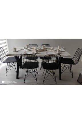 NT Concept Ntconcept Doğal Ağaç Mutfak Masası(85cm-185cm Masa+6 Sandalye)