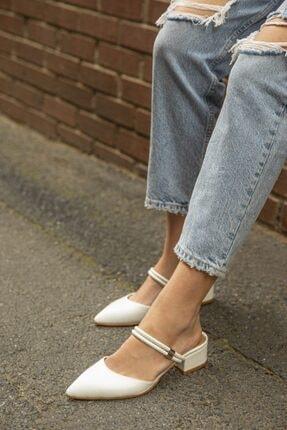 STRASWANS Sky  Kadın Beyaz  Topuklu Ayakkabı
