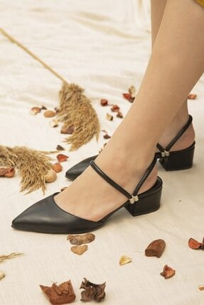 STRASWANS Sky Kadın Siyah Topuklu Ayakkabı