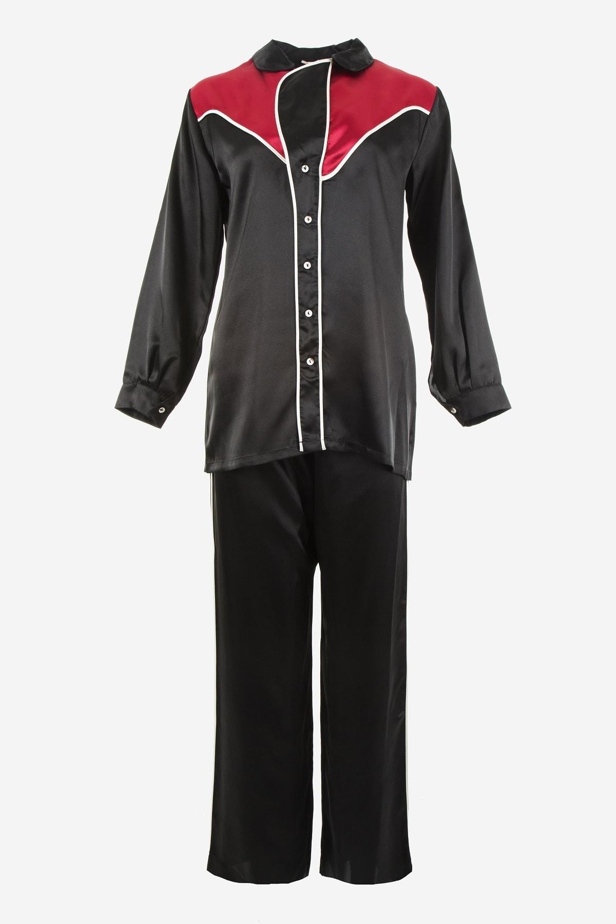 Karmen Özel Tasarım Saten Pijama Takımı 1