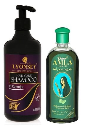 Lyonsey At Kuyruğu Şampuanı 400 Ml + Dabur Amla Saç Bakım Yağı 200 Ml