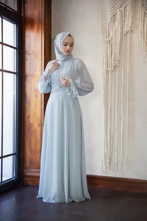 minel aşk Çağla Düğüm Detaylı Şifon Elbise