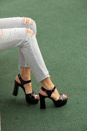 Kenzo Kadın Siyah  Platform Ayakkabı