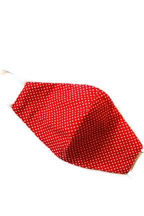 Aisha & Joe Kırmızı Puantıye Yetıskın Koton Maske