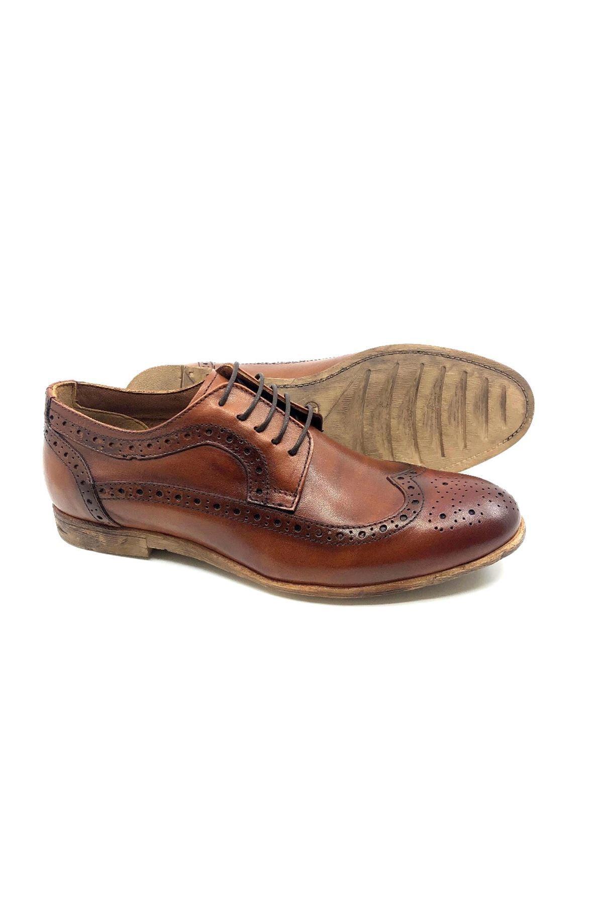 TETRİ Erkek Kahverengi Deri Klasik Ayakkabı 2