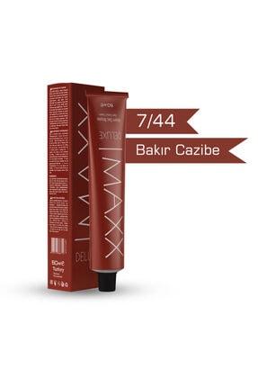 MAXX DELUXE 7/44 - Bakır Cazibe Krem Saç Boyası - 60ml