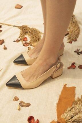 STRASWANS Kadın Ten-Siyah Leila Topuklu Ayakkabı