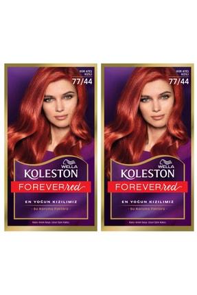 Wella 2'li Koleston Kit 77/44 Boya Kor Ateşi Kızılı 8681654343496