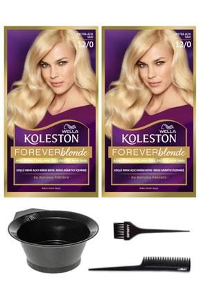 Wella 2'li Koleston Kit 12/0 Boya Çok Açık Doğal Sarı Ve Saç Boyama Seti