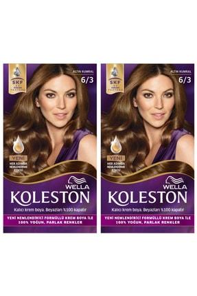 Wella Koleston 6/3 Kit Altın Kumral Saç Boyası 2'li