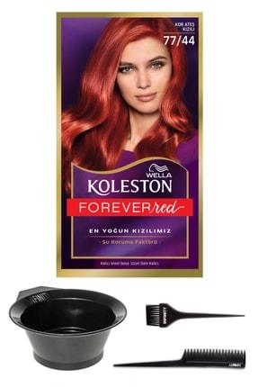 Wella Koleston Kit 77/44 Boya Kor Ateşi Kızılı Ve Saç Boyama Seti