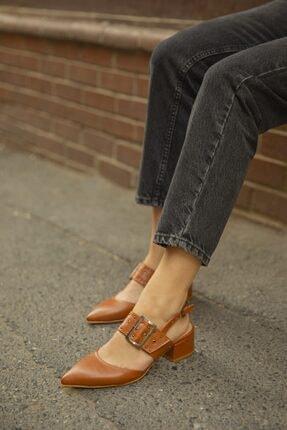 STRASWANS Kadın Taba Amelia Deri Topuklu Ayakkabı