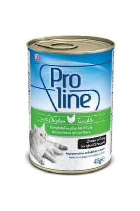 Pro Line Tavuklu Et Parçacıklı Kedi Konservesi 415 Gr 20 Adet