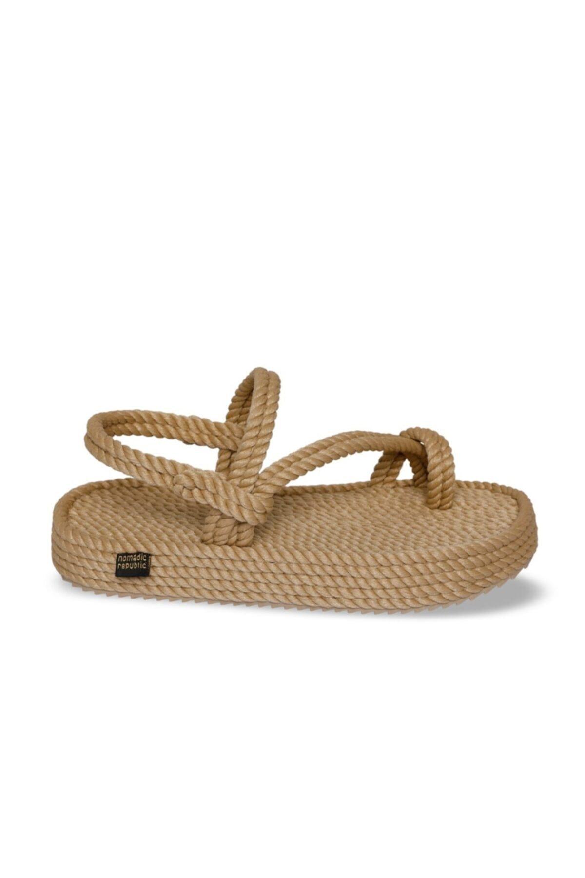 Nomadic Republic Hawaii Platform Kadın Halat & İp Sandalet - Bej 2