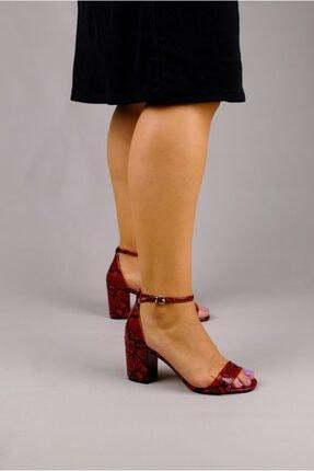 Rollerbird Naja Kırmızı Yılan Topuklu Ayakkabı