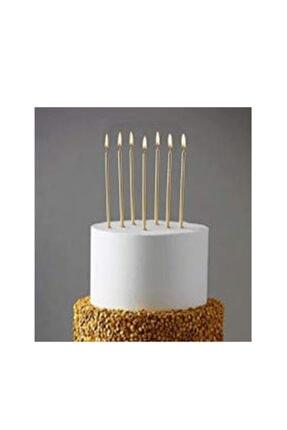 BambaPaw 6'lı 20 cm Altın Renk Pasta Mumu