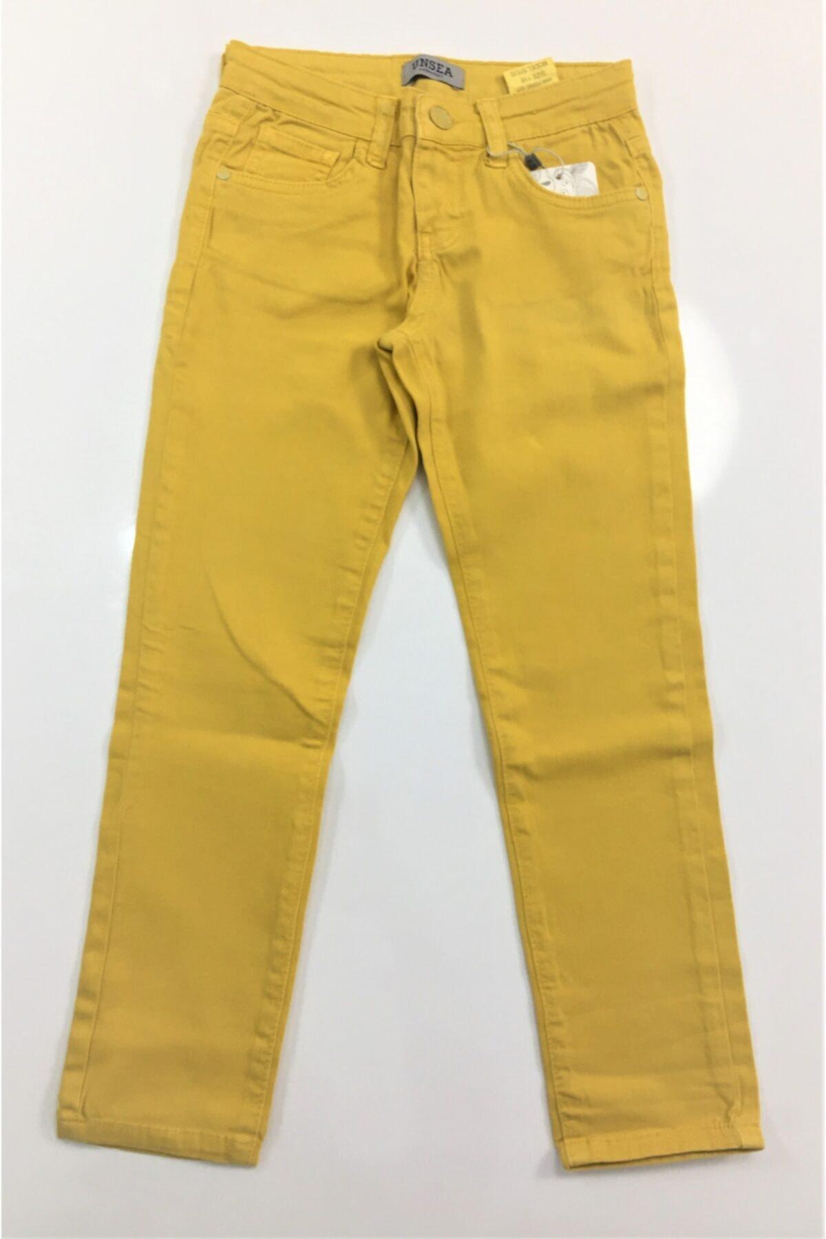 Elif Bebe Çocuk Sarı  Likralı Pantolon 1