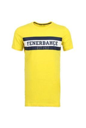 Fenerium Erkek Sarı Yazılı T-shirt