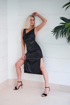 That's It Kadın Siyah Kolsuz Gece Elbisesi