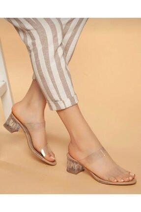 Stil Ayakkabim Kadın Şeffaf Topuklu Terlik