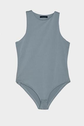 TRENDYOLMİLLA Mavi Çıtçıtlı Örme Body TWOSS20BD0044