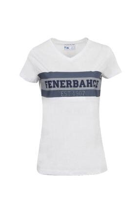 Fenerium Kadın Beyaz Kolej Fb 1907 Spor T-Shirt