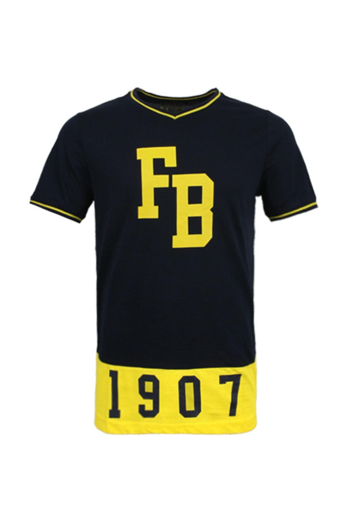 Fenerbahçe Erkek Lacivert Kolej 1907  Spor T-Shirt 1