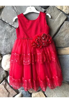 Elif Bebe Kız Çocuk Kırmızı Elbise